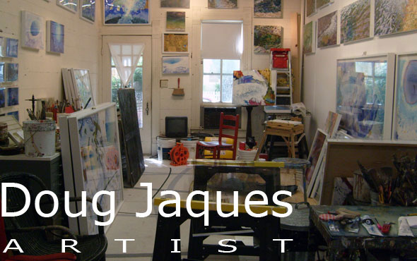 Photo of the studio of artist Doug Jaques